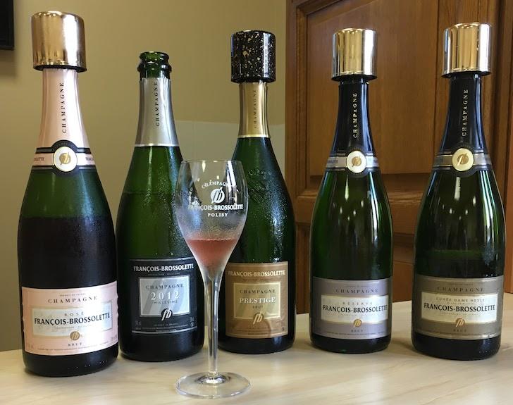 champagne Francois-Brosselette tasting