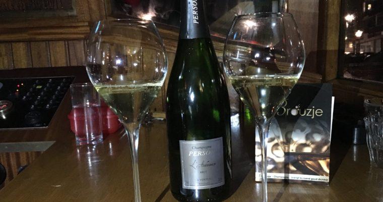 De champagne cruise van Brouzje